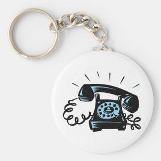 Ring Ring Basic Round Button Keychain