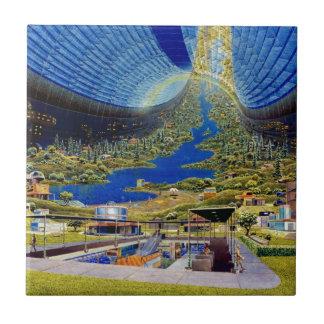 Ring Space Station Interior Habitat Ceramic Tile