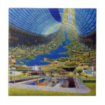 Ring Space Station Interior Habitat Ceramic Tiles