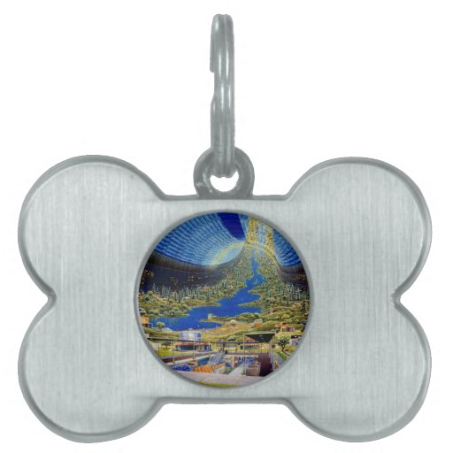 Ring Space Station Interior Habitat Pet Tag
