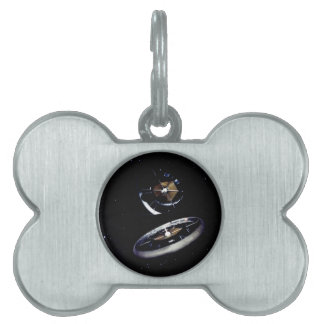 Ring Space Station Pet ID Tags