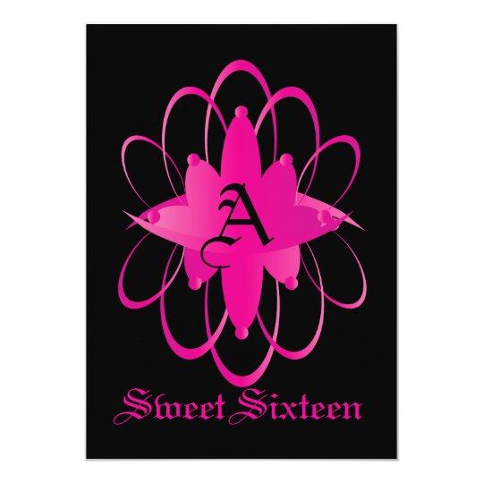 """Ring Sweet dieciséis de princesas - personalizar Invitación 5"""" X 7"""""""