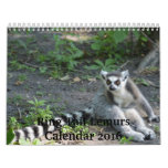 Ring Tail Lemurs 2016 Calendar