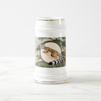 Ring-Tailed Cat In Natural Habitat Illustration Beer Stein