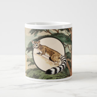 Ring-Tailed Cat In Natural Habitat Illustration Large Coffee Mug