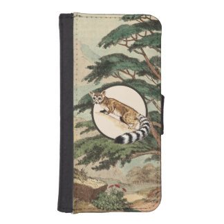Ring-Tailed Cat In Natural Habitat Illustration iPhone 5 Wallet