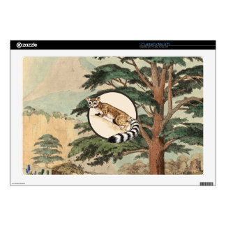 """Ring-Tailed Cat In Natural Habitat Illustration Decals For 17"""" Laptops"""