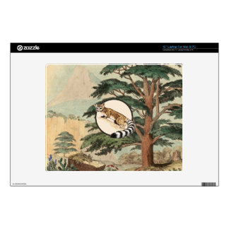 """Ring-Tailed Cat In Natural Habitat Illustration Decals For 12"""" Laptops"""