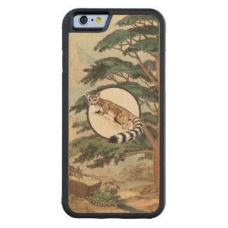 Ring-Tailed Cat In Natural Habitat Illustration Carved® Maple iPhone 6 Bumper
