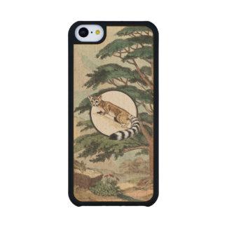 Ring-Tailed Cat In Natural Habitat Illustration Carved® Maple iPhone 5C Slim Case