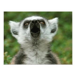 Ring-Tailed Lemur 4.25x5.5 Paper Invitation Card