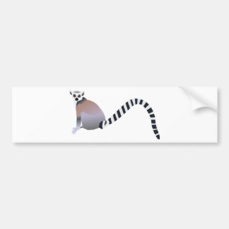 Ring-Tailed Lemur Bumper Sticker