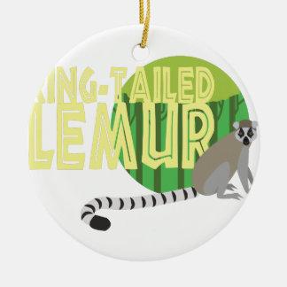 Ring-Tailed Lemur Ceramic Ornament