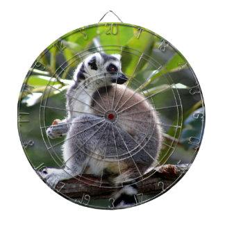 Ring-tailed lemur dartboard
