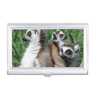 Ring-tailed Lemur Family Business Card Case
