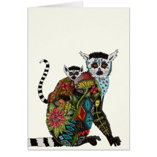 Ring Tailed Lemur Love Greeting Card