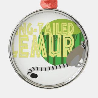 Ring-Tailed Lemur Metal Ornament