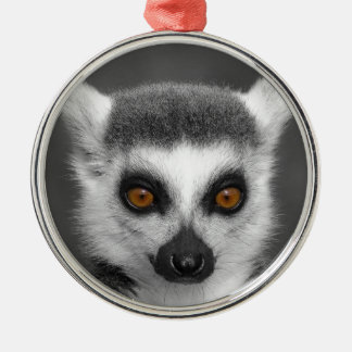 Ring Tailed Lemur Metal Ornament