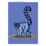 Ring Tailed Lemur Painting and Facts Card