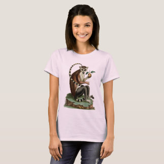 Ring-Tailed Lemur Tee: 1780 Zoology Illustration T-Shirt