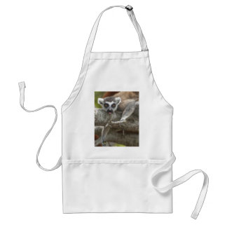 Ring-tailed Lemur Tongue Stuck Out Apron
