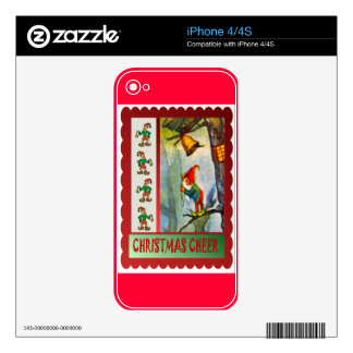 Ring the bell for Christmas Decals For iPhone 4S