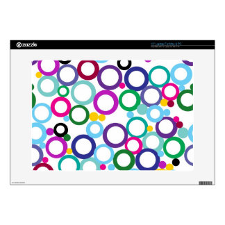 "Ring Toss Decals For 15"" Laptops"