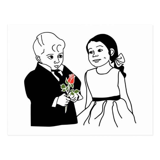 Ringbearer and Flower Girl Postcard