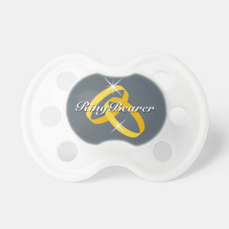 Ringbearer baby pacifier for wedding ring bearer
