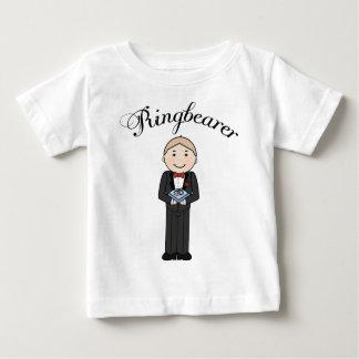 Ringbearer embroma la camiseta playera para bebé