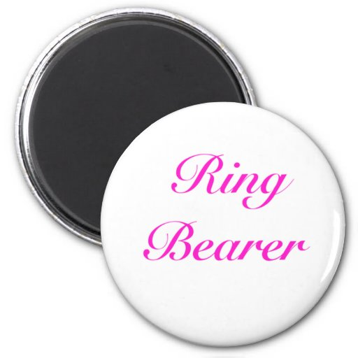 ringbearer girly 2 inch round magnet