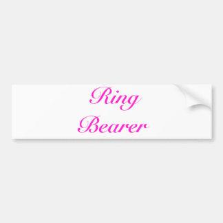 ringbearer girly bumper sticker