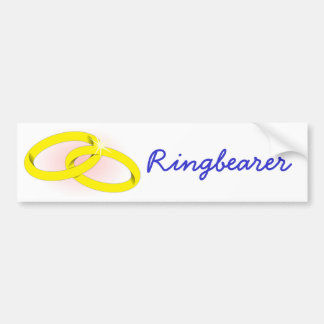 Ringbearer Pegatina Para Auto