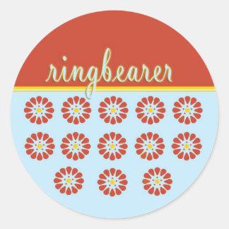 ringbearer classic round sticker