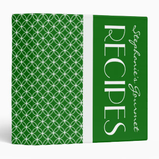 Ringed Diamonds Recipe - Green White 3 Ring Binder