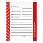 Ringed Diamonds Recipe Inserts - Red White Flyer at Zazzle