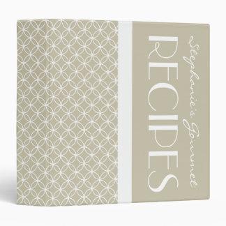 Ringed Diamonds Recipe - Latte White Binder