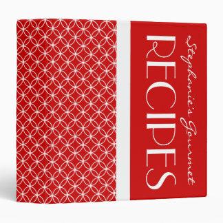 Ringed Diamonds Recipe - Red White 3 Ring Binder