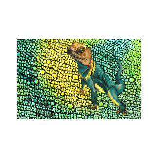Ringed Neck Lizard Canvas Print