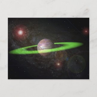 ringed planet post cards