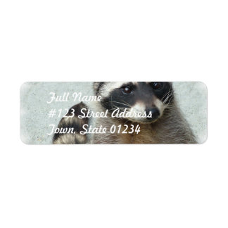 Ringed Raccoon  Mailing Labels