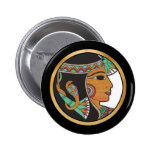 Ringer Button with Egyptian Princess