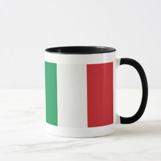 Ringer cup black Italy flag