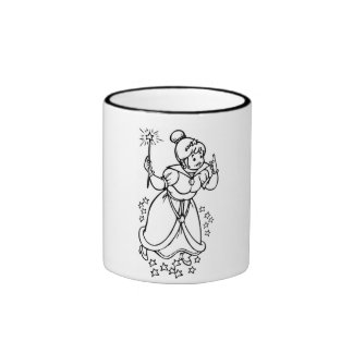 Ringer cup of black and white with Fee