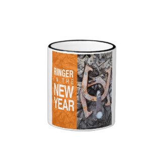 Ringer in the New Year Horseshoe Pitching Mug