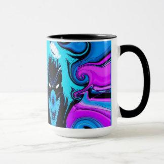 Ringer Mug 16oz With clown art work