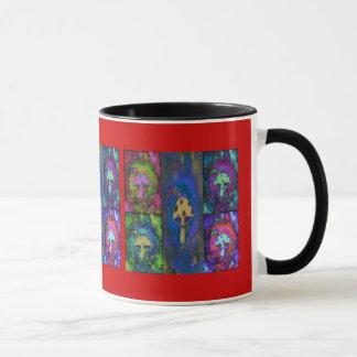 Ringer Mug - Multiple Mushroom Print