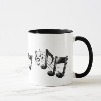 Ringer Mug with Musical notes