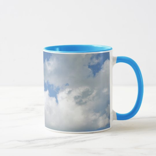 Ringer Mug with Sky and Clouds