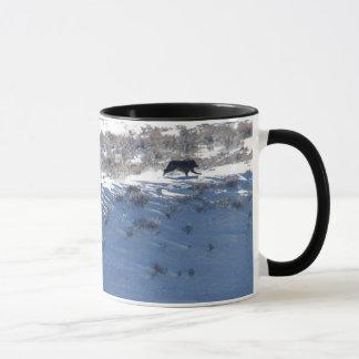 Ringer Mug - Yellowstone Lamar wolf pack run